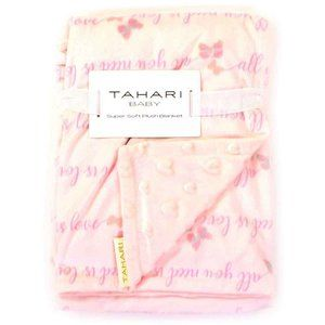 Tahari Baby Girls Mink Fleece Blanket